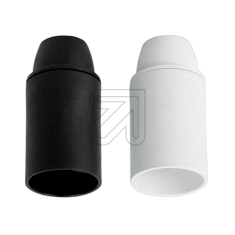 Iso Fassung E27 schwarz mit Glattmantel